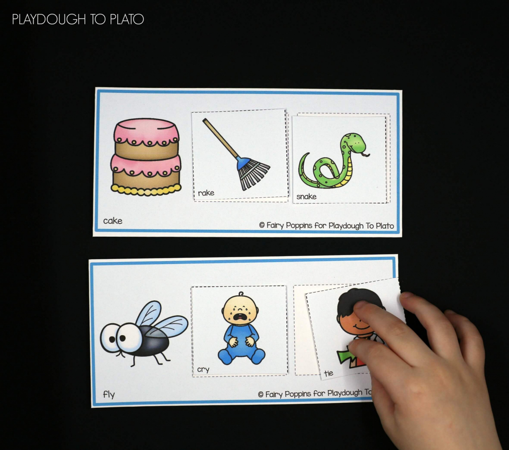 Rhyming Picture Mats - Playdough To Plato   Rhyming Picture Cards Printable