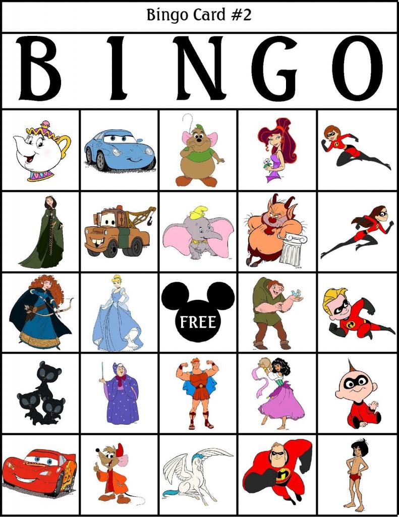Robbygurl's Creations: Printable Disney Bingo Cards! Tons Of | Printable Bingo Cards 2 Per Page