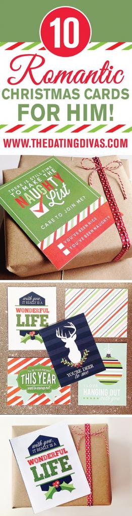 Romantic Christmas Cards For Him | Christmas Ideas | Christmas | Christmas Cards For Him Printable