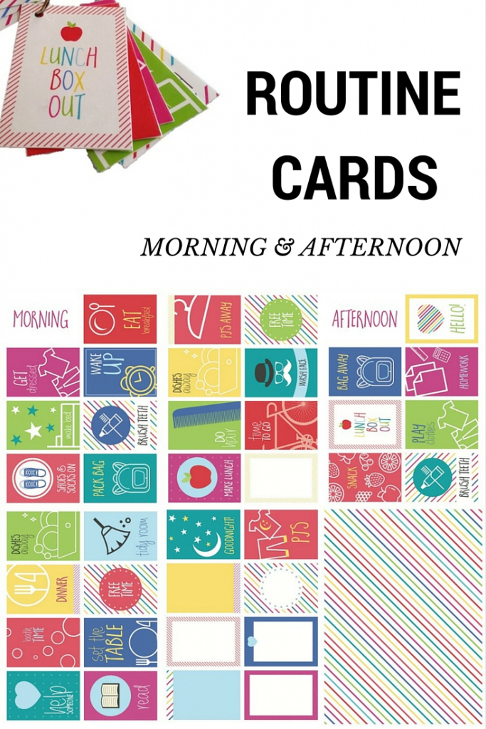 Routine Cards – Morning And Afternoon – Be A Fun Mum   Free Printable Daily Routine Picture Cards