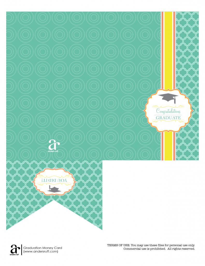Ruff Draft: Free Printable Graduation Money Card - Anders Ruff | Free Printable Graduation Cards