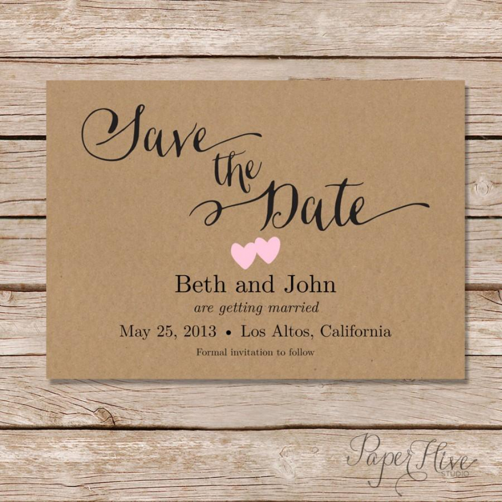Rustic Save The Date Card / Printable Save The Date / Digital File | Printable Save The Date Wedding Cards