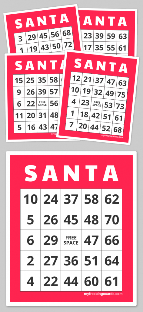 S A N T A Bingo | Teacher Fun Galore | Pinterest | Bingo Cards | Free Printable Bingo Cards 1 75