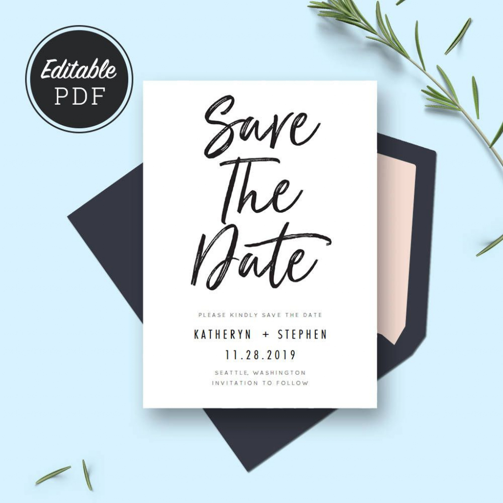 Save The Date Card Templates, Wedding Save The Dates, Printable | Printable Save The Date Wedding Cards