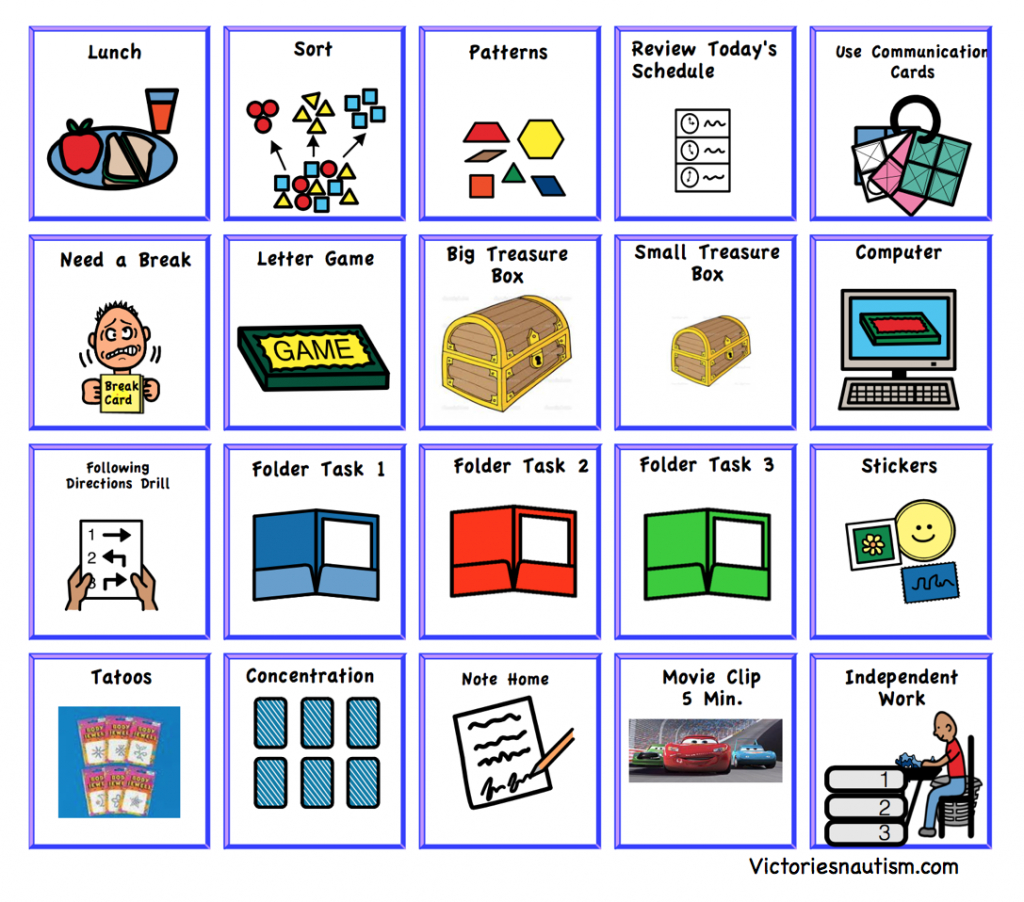 Schedule, Activity And Task Cards   Picture Cards For Autism Printable