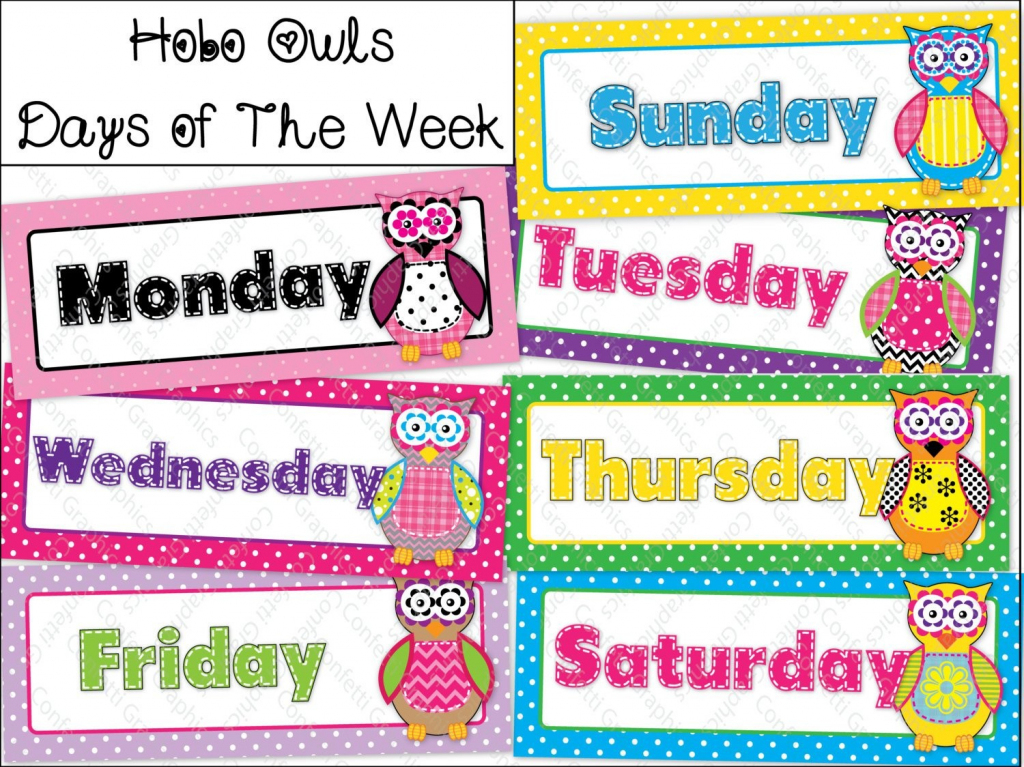 Schedule Template Days Of The Week Calendar Le Blank No Free   Smorad   Free Printable Days Of The Week Cards