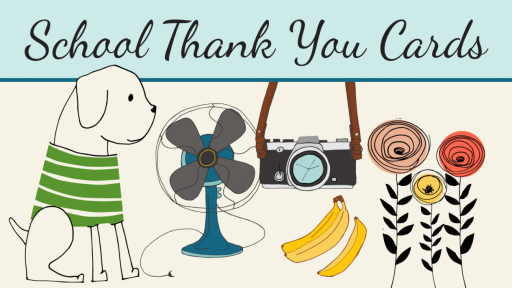 School Thank-You Cards For Custodians, Librarians And Other Staff | Printable Thank You Cards For Employees