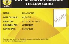 Scissor Lift Certification Card Template – Reeviewer.co | Free Printable Forklift Certification Cards