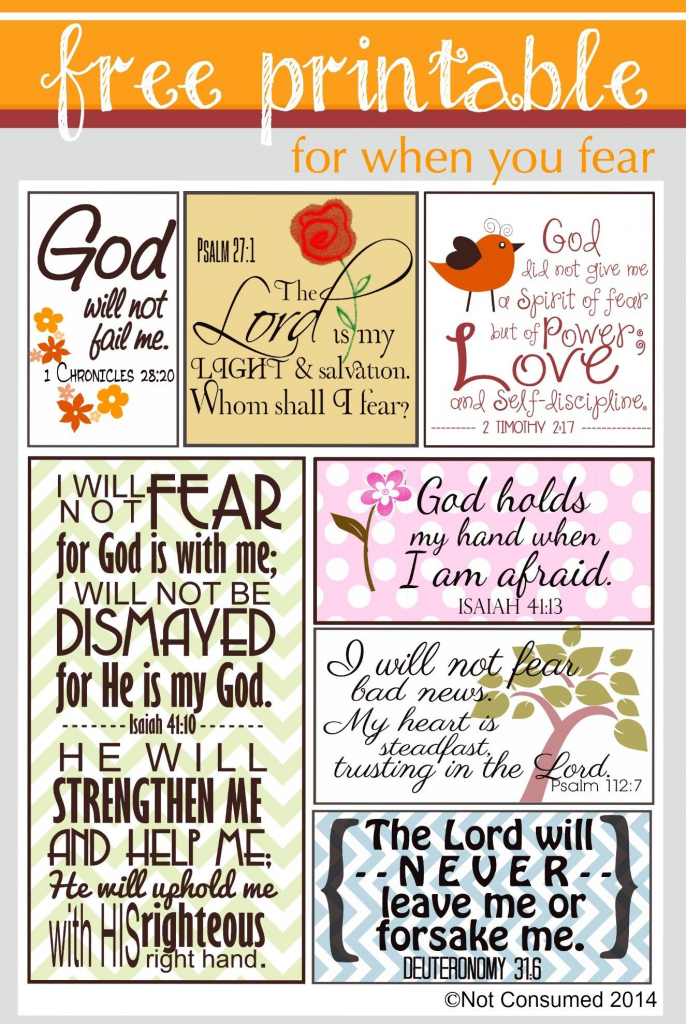 Scripture For When You Are Fearful   Bannie's Bible Journaling   Free Printable Scripture Cards