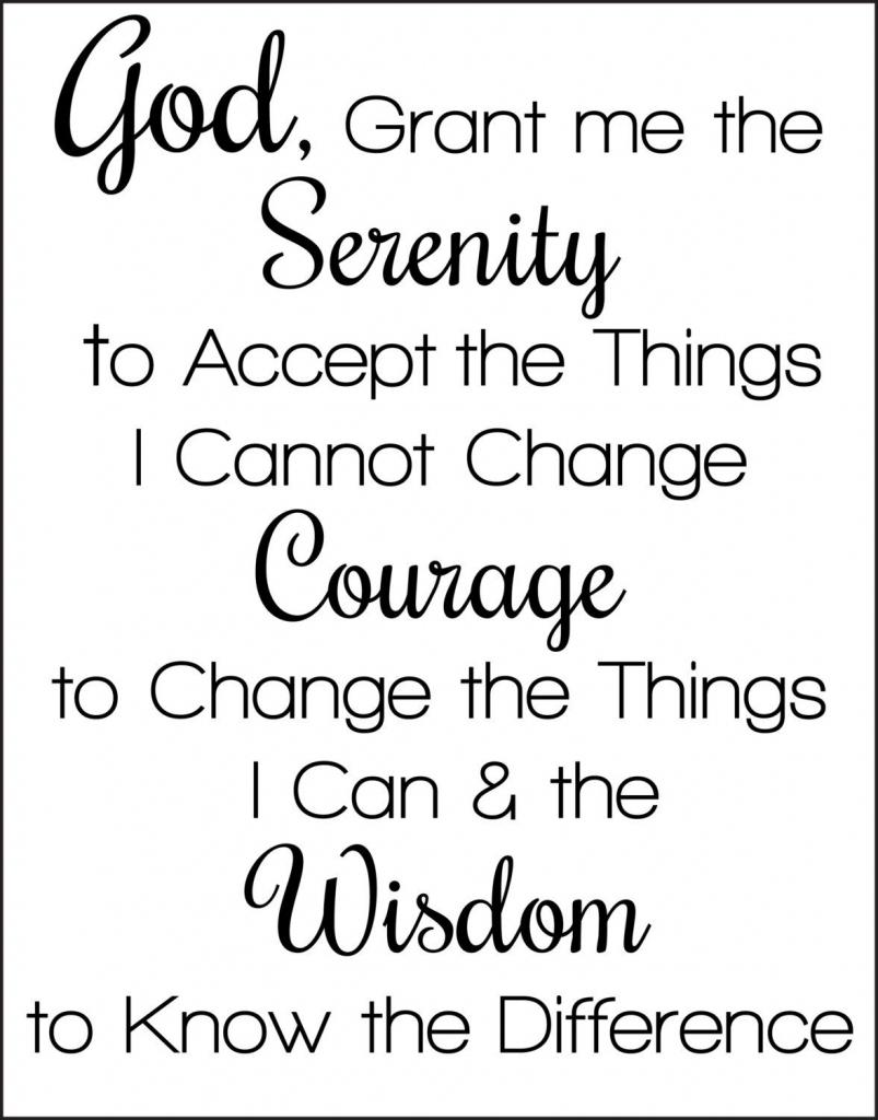 Serenity Prayer Printable | Christian Counseling And Coaching | Printable Serenity Prayer Cards