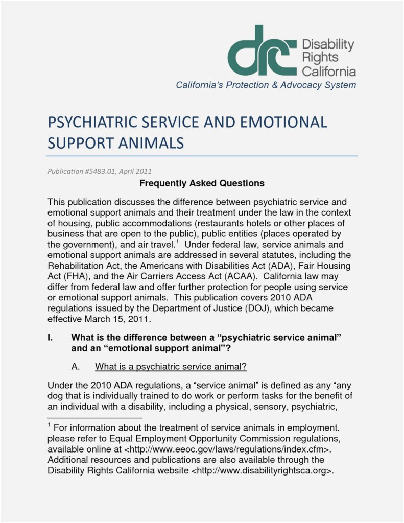 Service Dog Doctors Note Example - Canas.bergdorfbib.co | Printable Ada Service Dog Card