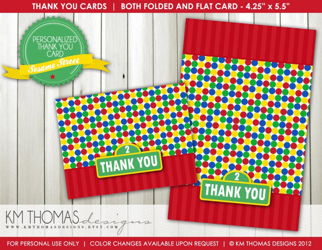 Sesame Street Thank You Card Printable Thank You Card | Etsy | Thomas Thank You Cards Printable