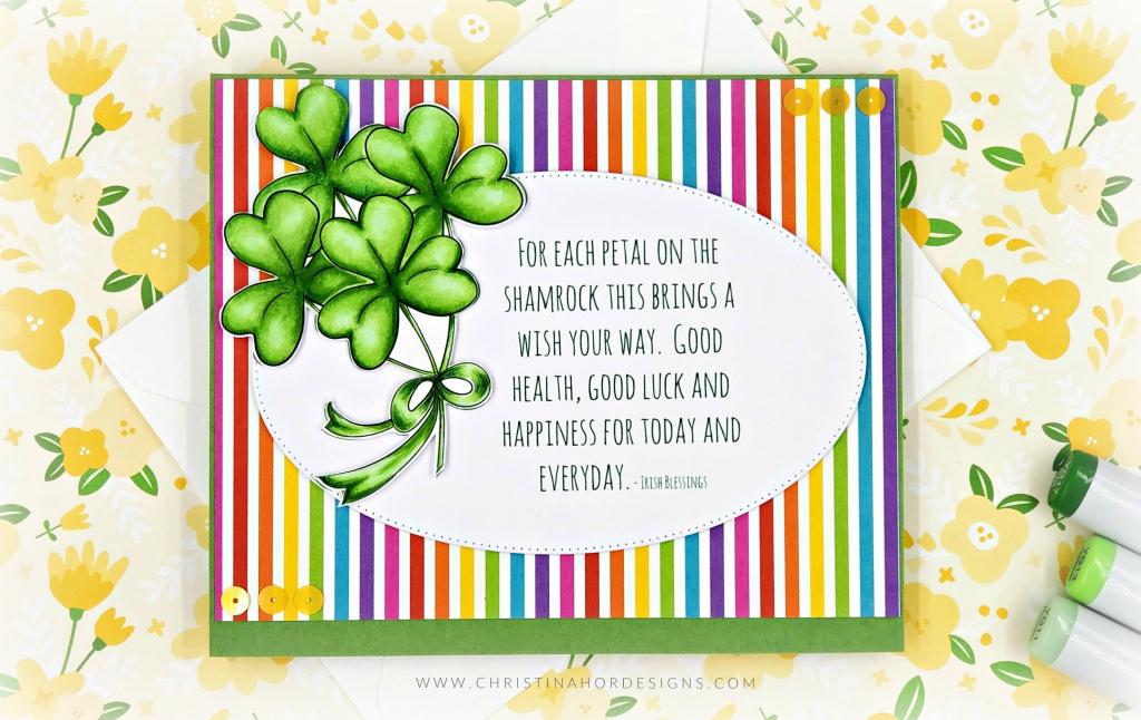 Shamrock Good Luck & Free Digital Download | Christina Hor Designs | Free Printable Good Luck Cards