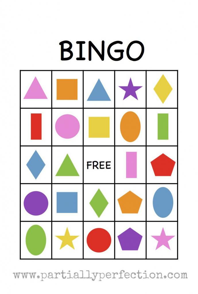 Shape Bingo Card - Free Printable - I'm Going To Use This To Teach   Shapes Bingo Cards Printable
