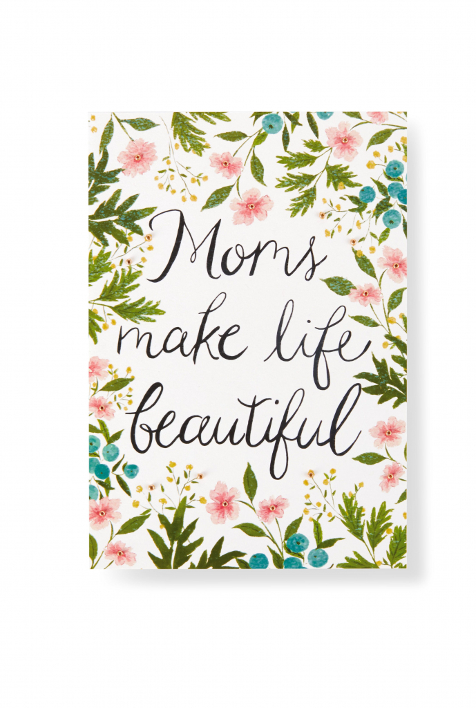 Show Mom How Much You Care With This Pretty Floral-Inspired Mother's   Hallmark Printable Mothers Day Cards