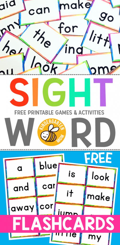Sight Word Flashcards Via @prekmoms | Free Homeschool Printables And | Kindergarten Sight Words Flash Cards Printable
