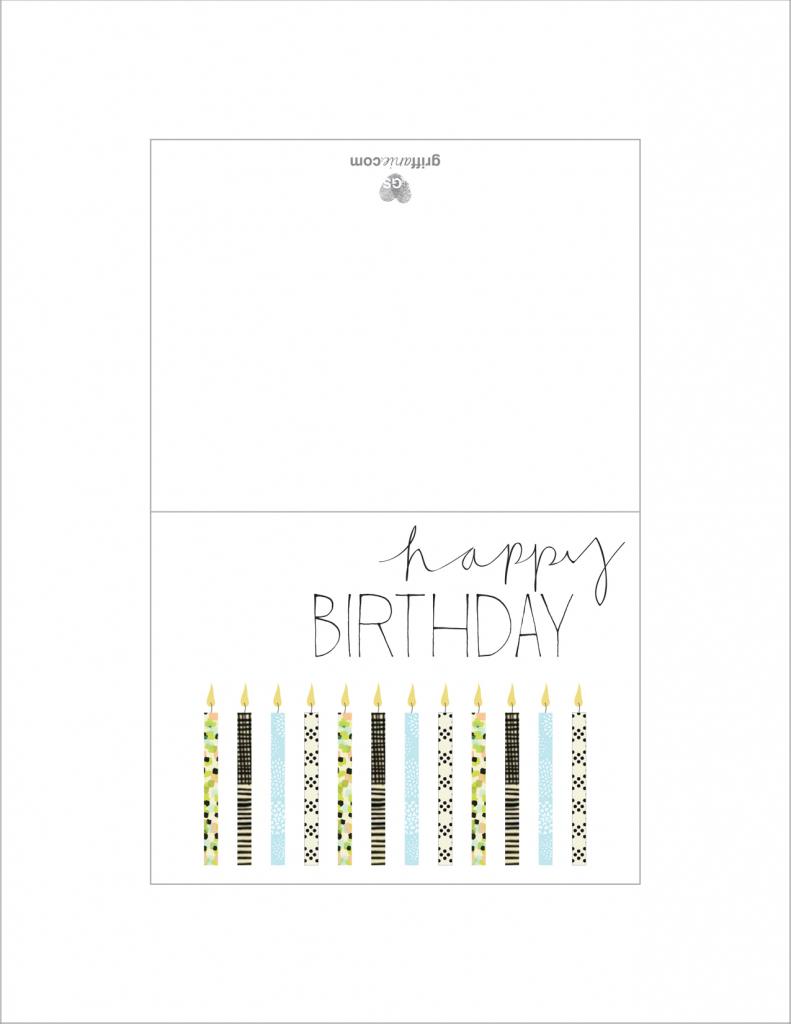 Simple Printable Birthday Cards - Canas.bergdorfbib.co | Free Printable Happy Birthday Cards For Dad