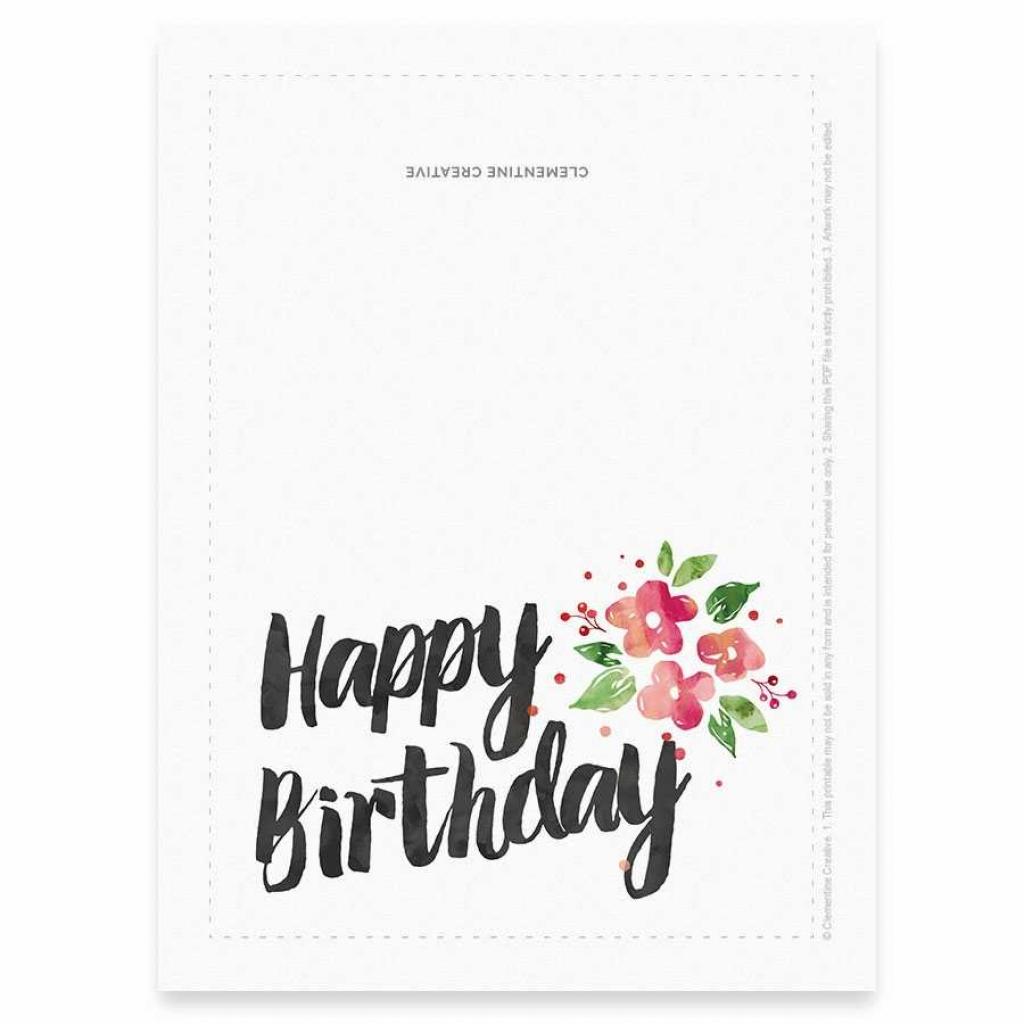 Simple Printable Birthday Cards - Hashtag Bg | Free Printable Birthday Cards For Her