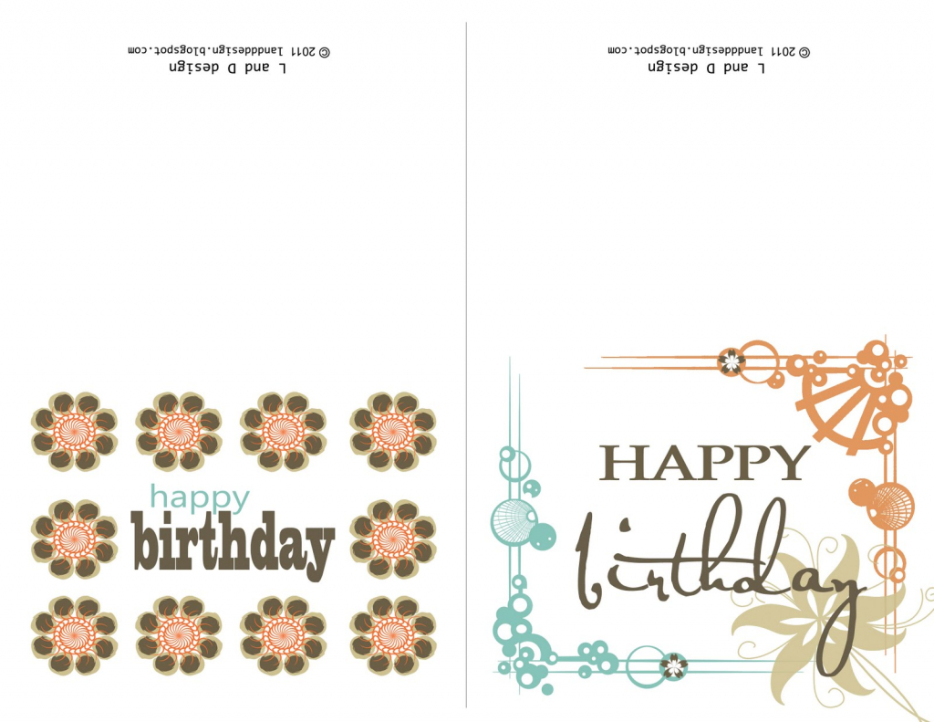 Small Printable Birthday Cards | Zwonzorg | Printable Birthday Cards For Dad