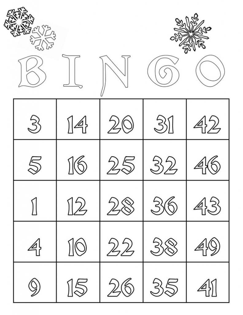 Snowflake/printable Cards/bingo Cards/coloring/winter | Etsy | Printable Bingo Cards 4 Per Page