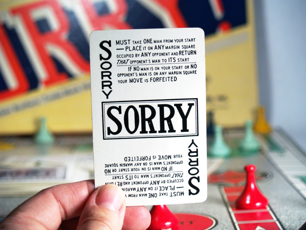 Sorry!: Yea, Bet They're Sorry They Asked. • The Game Aisle | Sorry Board Game Cards Printable