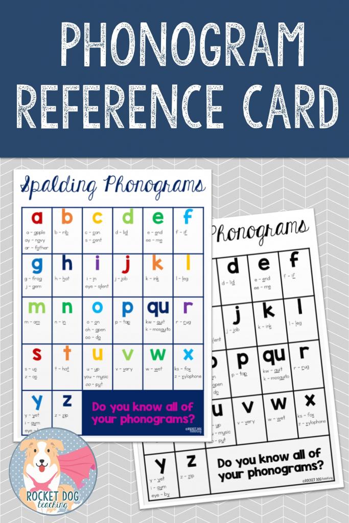 Spalding Phonogram Reference Card   Education   Phonograms, Spalding   Spalding Phonogram Cards Printable