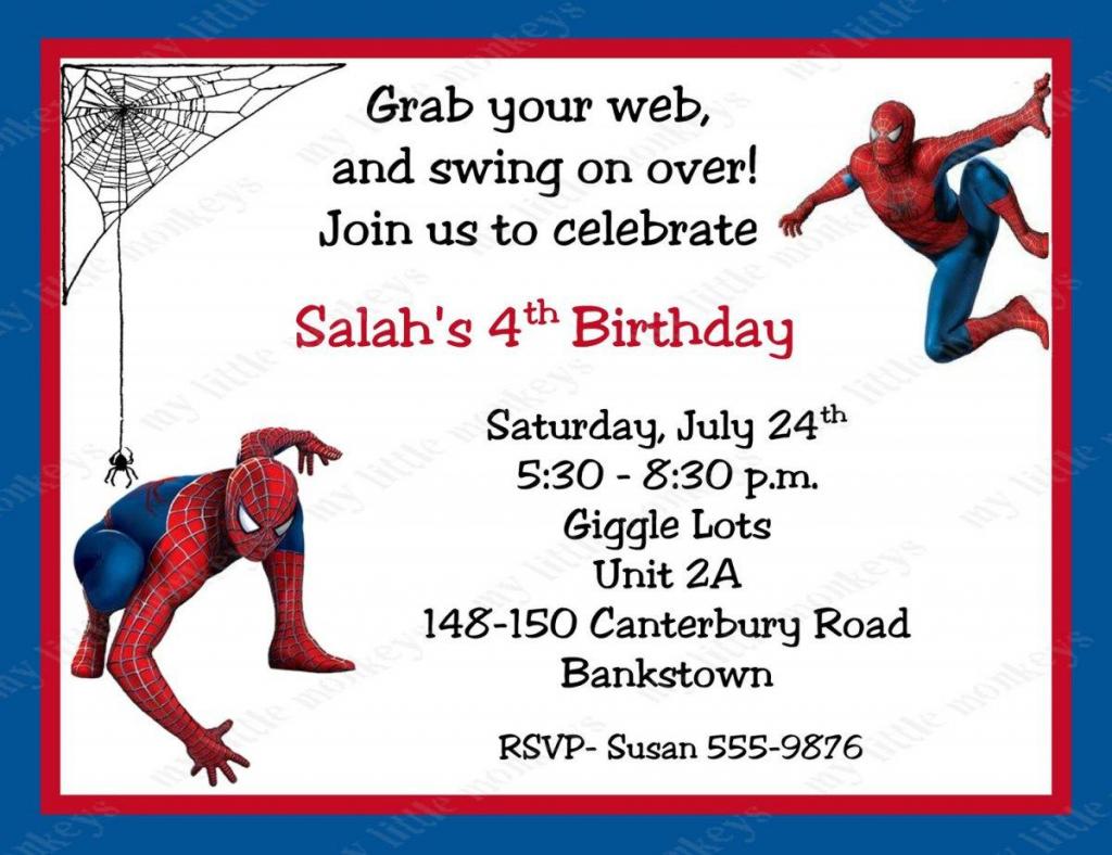 Spiderman Birthday Invitations Personalized. Free Printable   Free Printable Personalized Birthday Invitation Cards