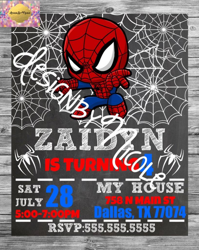 Spiderman Birthday Party Invitation And Thank You Card | Etsy | Spiderman Thank You Cards Printable