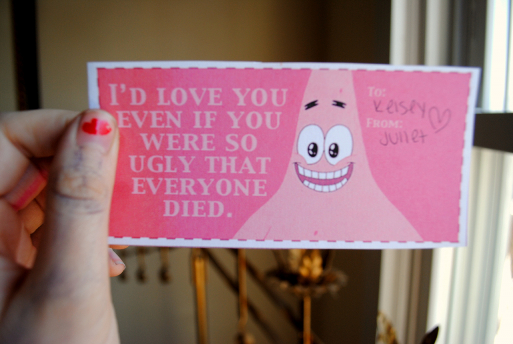 Spongebob Valentine Cards On The Hunt | Spongebob Valentine Cards Printable