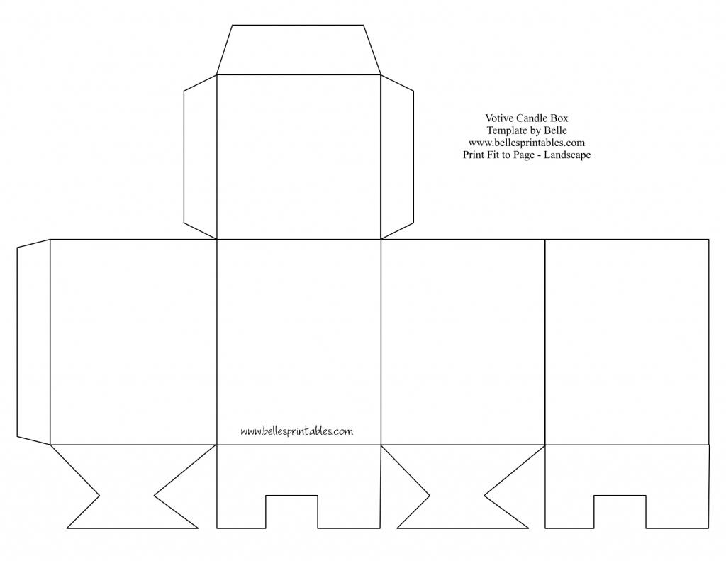 Square Box Template - Under.bergdorfbib.co   Gift Card Box Template Printable