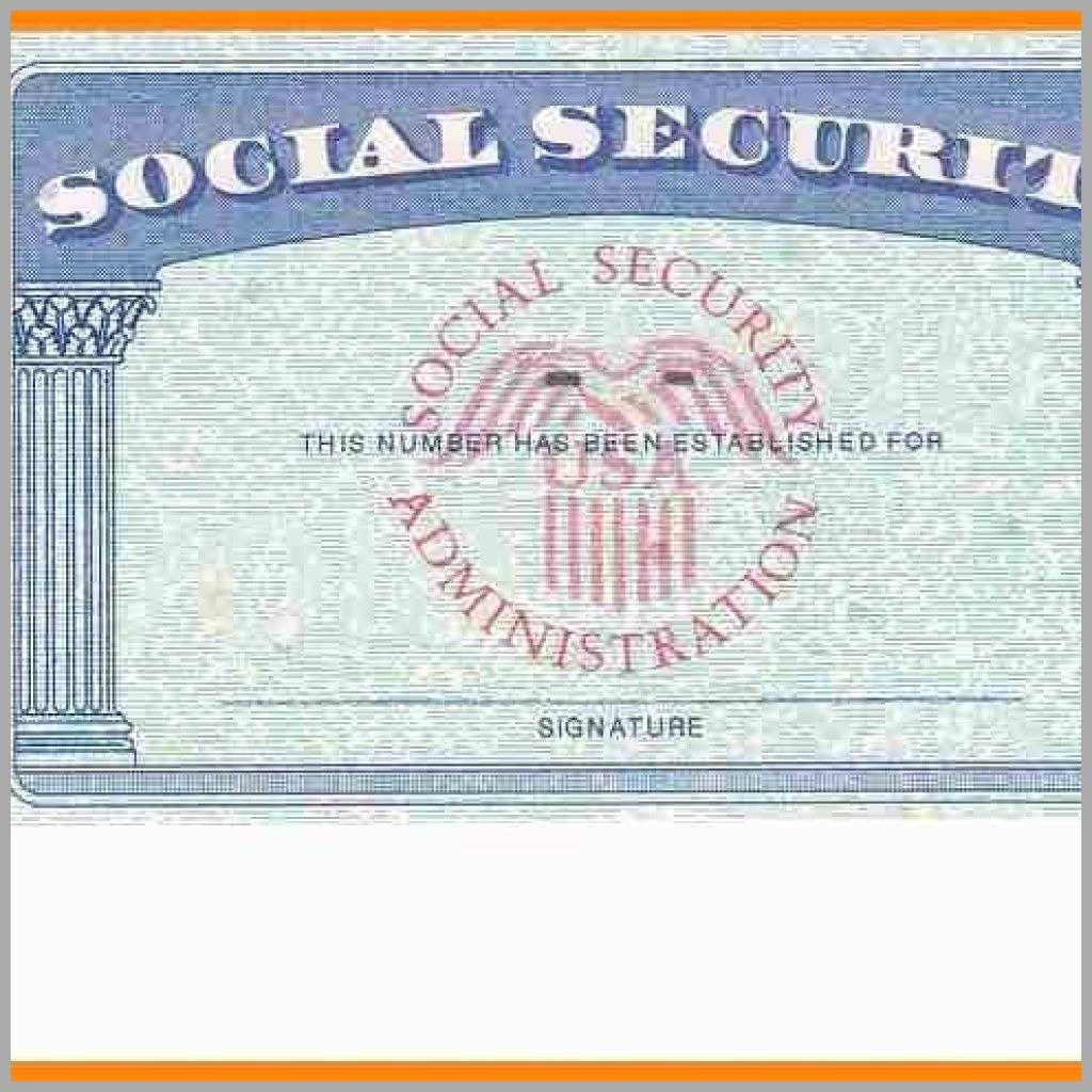 Ssn Card Template - Kleo.bergdorfbib.co   Printable Social Security Card Template