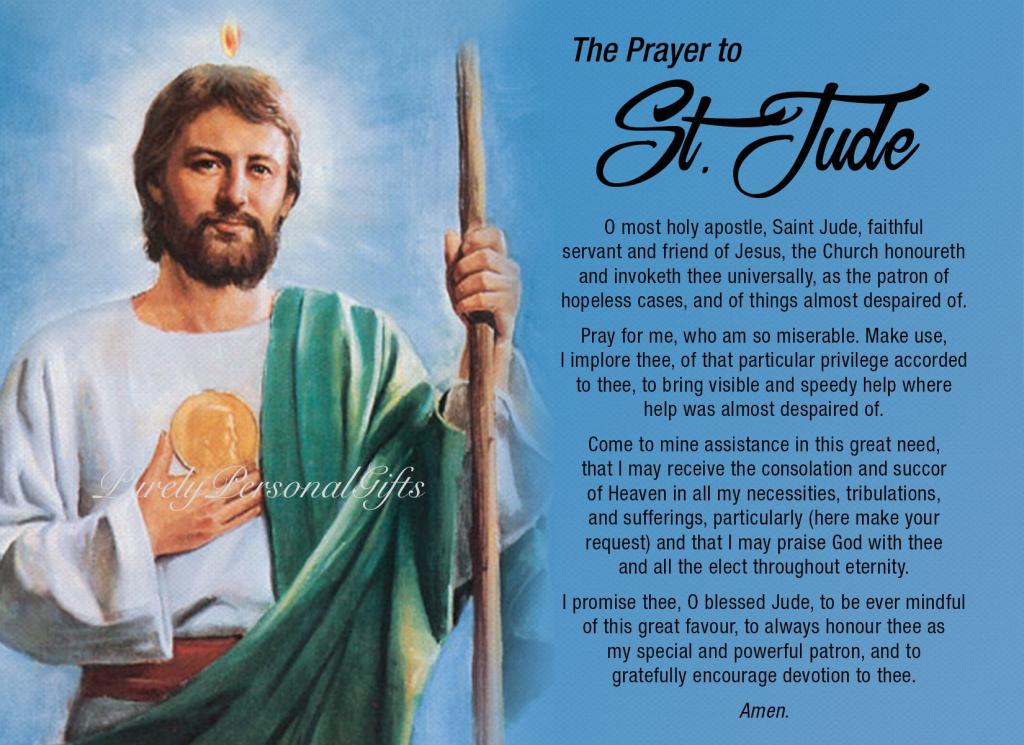St Jude Printable Saint Jude Prayer Prayer Card Pocket   Etsy   St Jude Printable Cards