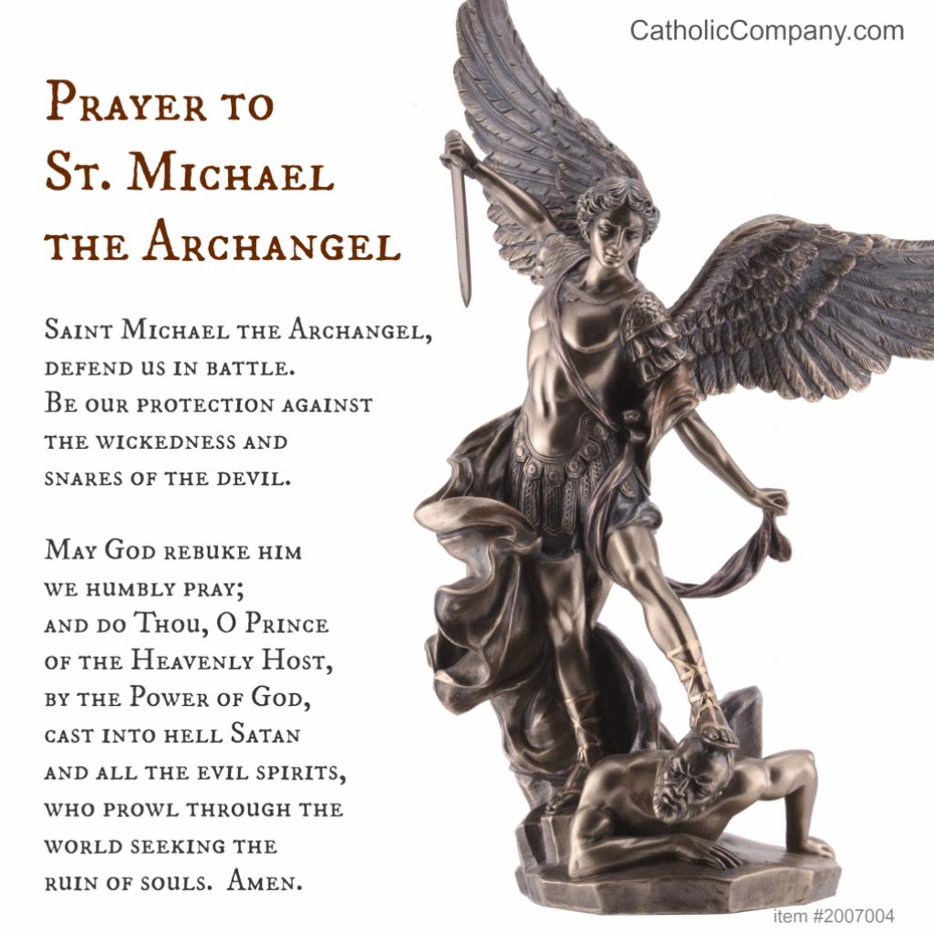 St. Michael The Archangel Prayer   The Catholic Company   St Michael Prayer Card Printable