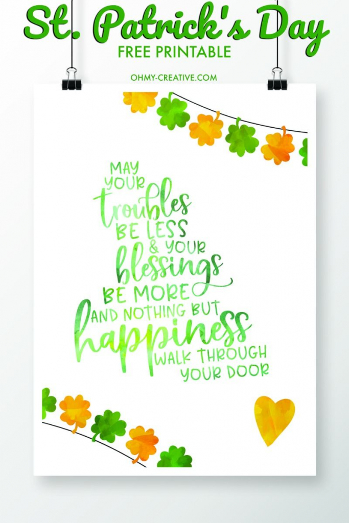 St. Patrick's Day Sayings Free Printables   Printables   Saint   Free Printable St Patrick's Day Card