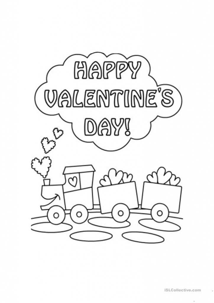 St Valentine's Day Card Worksheet - Free Esl Printable Worksheets   Teachers Day Card Printable