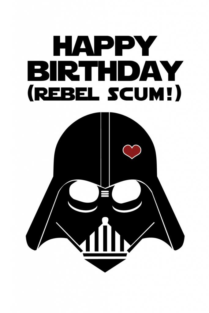 Star Wars Funny Birthday Card Diy Printable | Etsy | Star Wars Birthday Card Printable