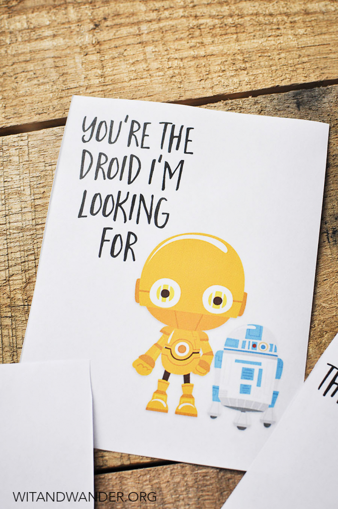 Star Wars Valentine's Day Cards For Kids - Our Handcrafted Life | Printable Star Wars Cards