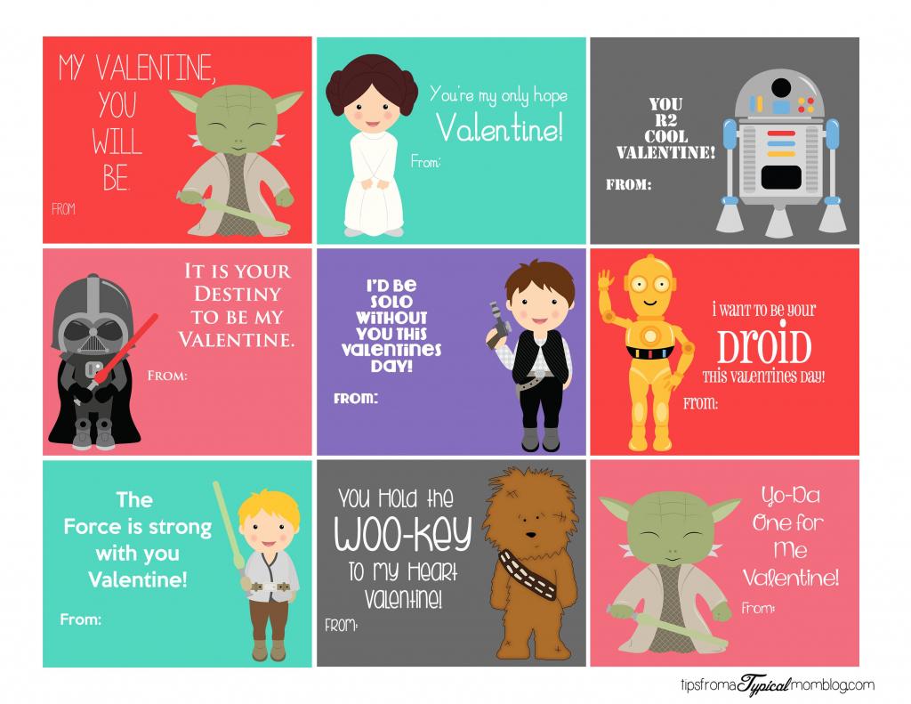 Stars Wars Printable Valentines | Valentine's Day | Starwars | Printable Star Wars Cards