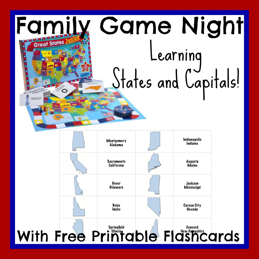 States And Capitals Flash Cards Printable - Printable Cards   States And Capitals Flash Cards Printable