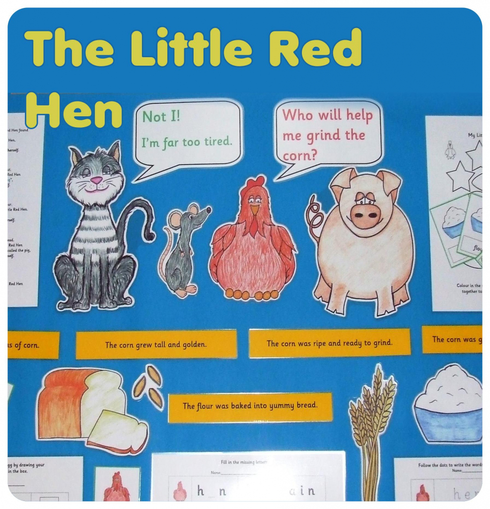 Story Resources - Primary Resources - The Little Red Hen   Wowhow   Little Red Hen Sequencing Cards Printable