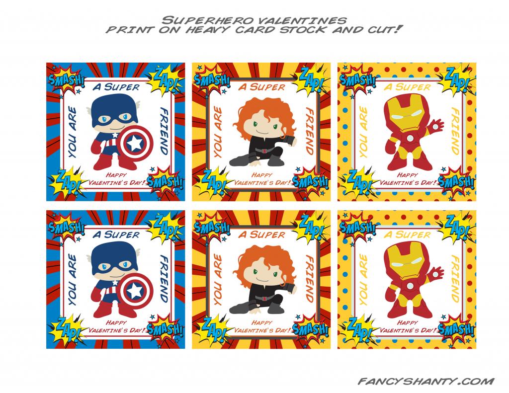 Superhero Valentine Cards   Share Today's Craft And Diy Ideas   Free Printable Superman Valentine Cards