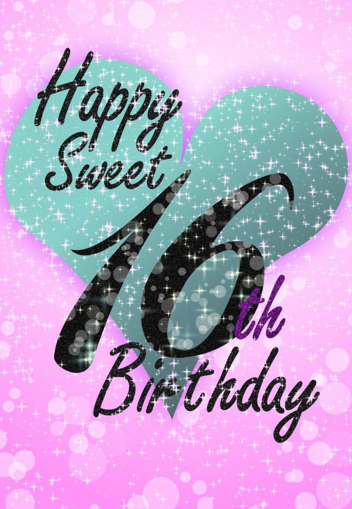 Sweet 16 - Free Printable Birthday Card   Greetings Island   Printable Quinceanera Birthday Cards