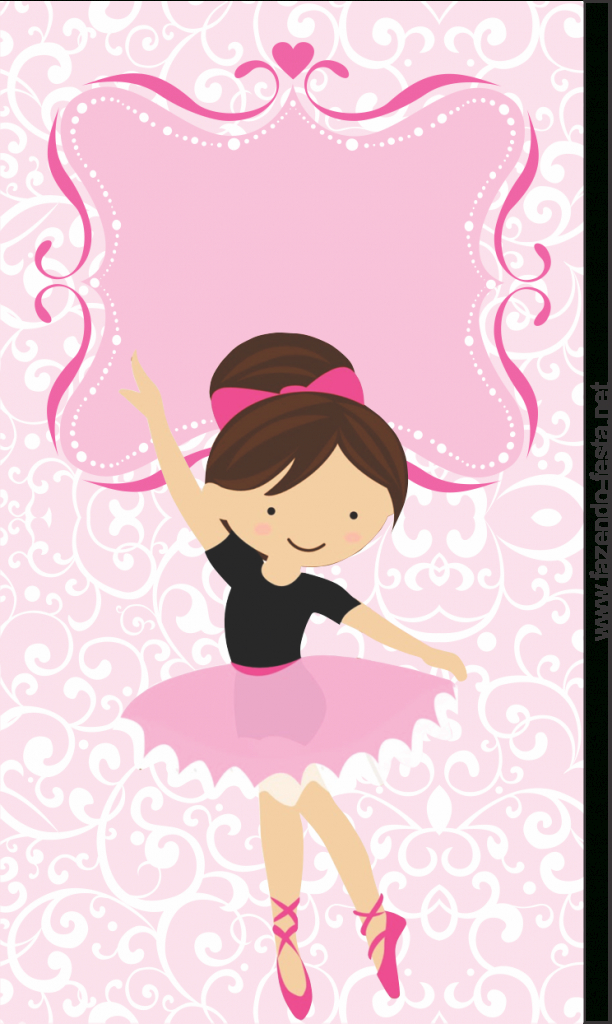 Sweet Ballerina Free Printable Card Or Candy Bar Label.   Ballerina   Free Printable Dance Recital Cards