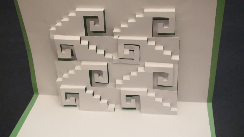 Swirly Steps Pop Up Card Kirgami | Free Template! - Youtube | Free Printable Kirigami Pop Up Card Patterns