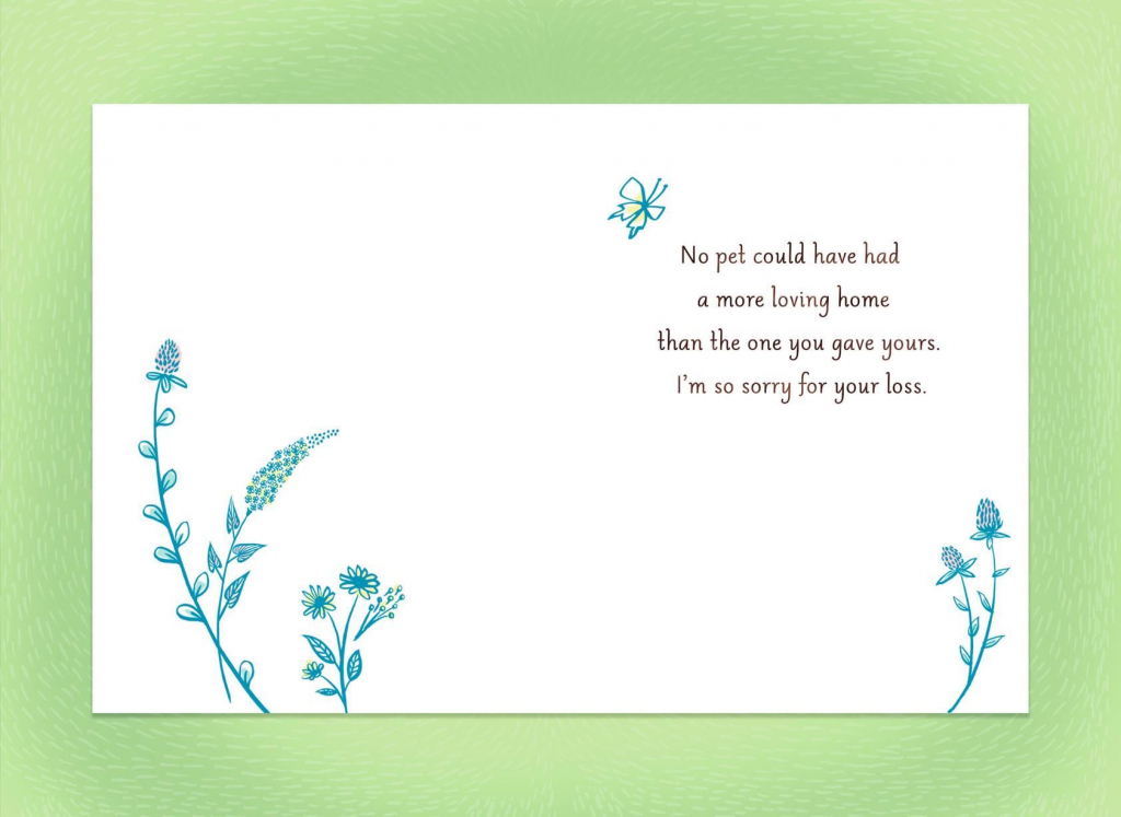 Sympathy Card For Loss Of Pet - Kleo.bergdorfbib.co | Free Printable Sympathy Cards For Dogs