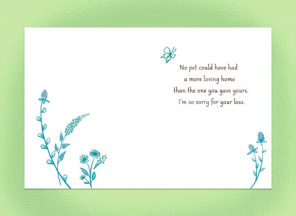 Sympathy Card For Pet Loss - Kleo.bergdorfbib.co | Printable Sympathy Card For Loss Of Dog