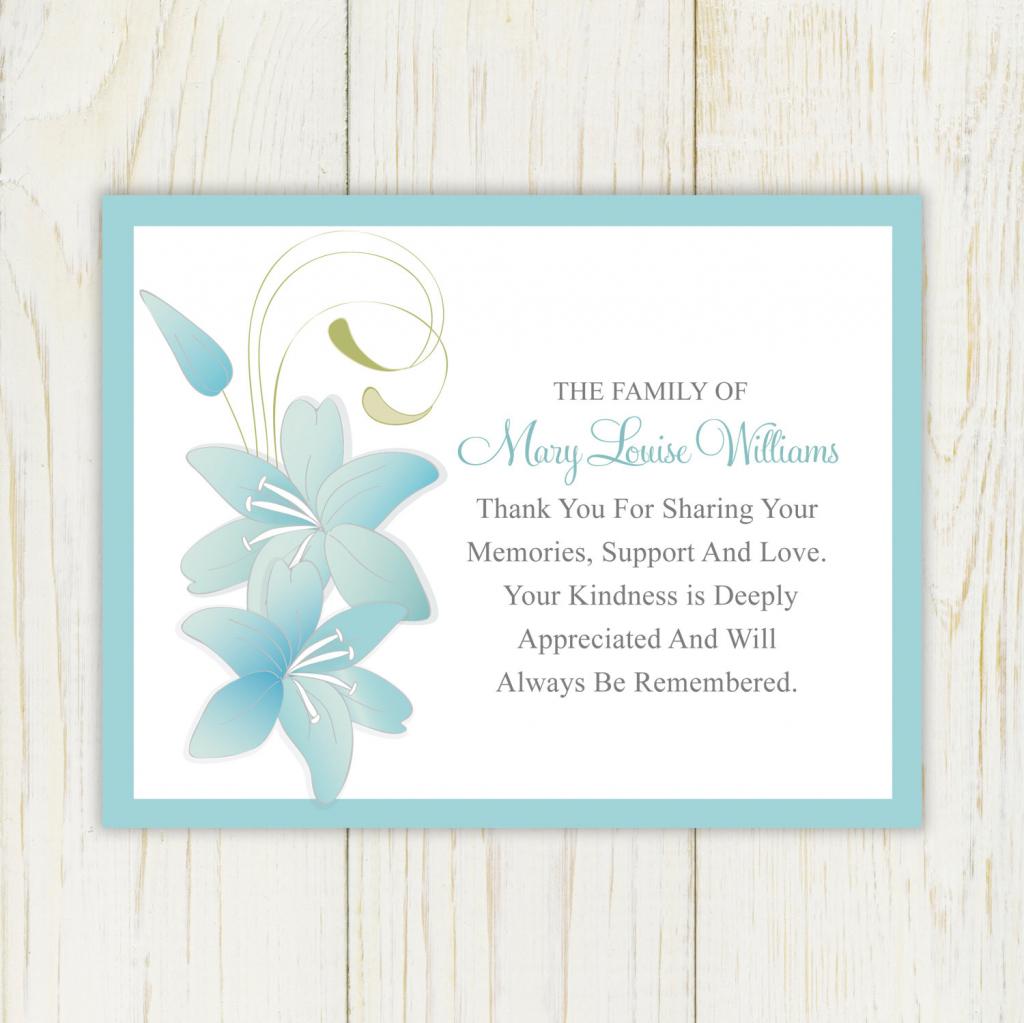 Sympathy Card Templates - Under.bergdorfbib.co | Thank You Sympathy Cards Free Printable