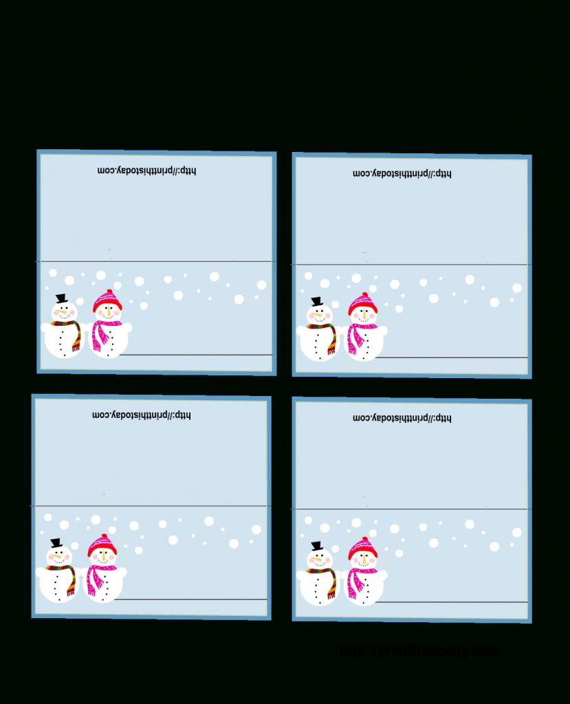 Table Name Template Free Printable Christmas Placecards | Printable Christmas Place Cards