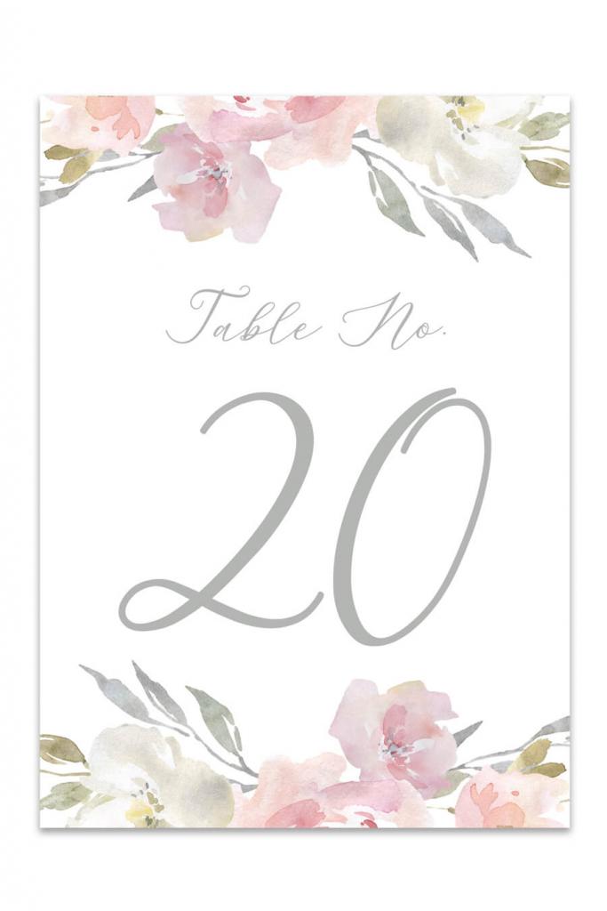 Table Numbers - Free Printable Table Number Templates | Printable Table Number Cards