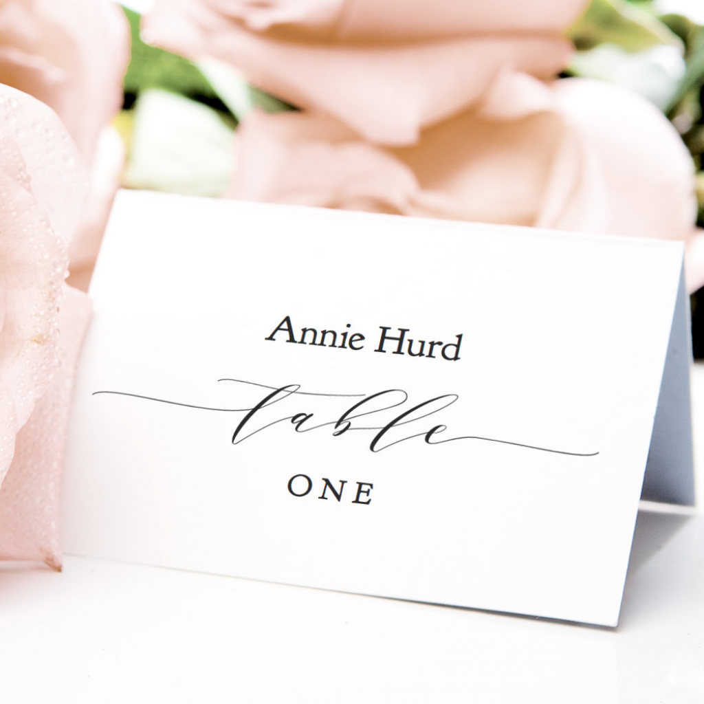Table Place Cards Printable Pdf Template 3.5X2.5 Flat &   Etsy   Printable Wedding Place Cards